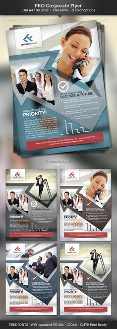 Pro Corporate Flyer Template  #GraphicRiver        Features   Fully