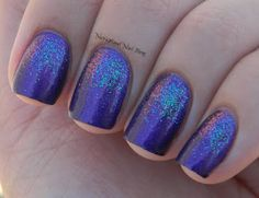 Purple with Holo Glitter Nails