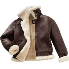 Sheepskin Flight Jacket looks so warm. But I have nothing to complain about, I already own a few snuggly furs, thanks to my very generous parents. Mens Shearling Coat, Brown Bomber Jacket, Bomber Jackets, Leather Flight Jacket, Sheepskin Coat, Sheepskin Jacket Mens, Aviator Jackets, Aviator Jacket Mens, Gentleman Style