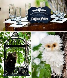 "Harry Potter ""Deathly Hallows"" party... cool ideas for Nearly Headless Nick Deathday party (?!?)"