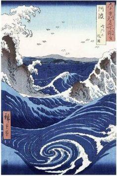 "FAR00783 ""Hiroshige - Whirlpool"" (24 X 36)"