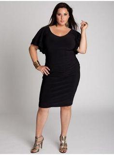 Vestidos casuales para gorditas / negro