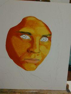 Pintura al óleo. Primer manchado.