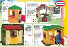 Little Tikes playhouses brochure.