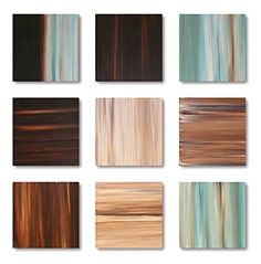9 Shades of teal and choco