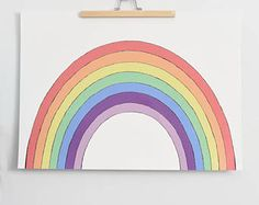 Rainbow - Children room decoration from Taki Paper posters. Unique colorful hand drawn. Kids room decoration. Wall decoration.