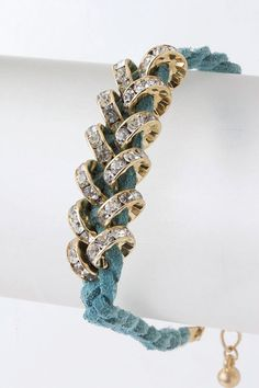 crystal and suede wrap bracelet