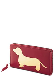 Wiener Takes All Wallet in Red, #ModCloth