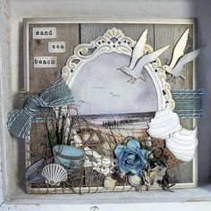 Beautiful seaside illustrations to cut out and assemble on your greeting cards. Single sheet x Handmade Birthday Cards, Greeting Cards Handmade, Scrapbooking Layouts, Scrapbook Cards, Cruise Scrapbook, Marianne Design Cards, Nautical Cards, Beach Cards, Ocean Crafts