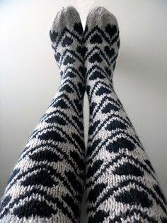 omⒶ KOPPA: KIRJONEULEVILLASUKAT Knee Socks, Drops Design, Yarn Crafts, Knitting Socks, Malli, Knits, Heart, Winter, Fashion