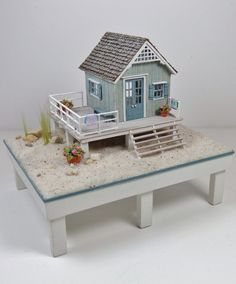 1/144th scale beach house by Nell Corkin