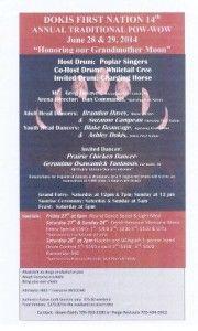 Pow Wow Calendar » » Dokis First Nation 14th Annual Traditional Pow-Wow