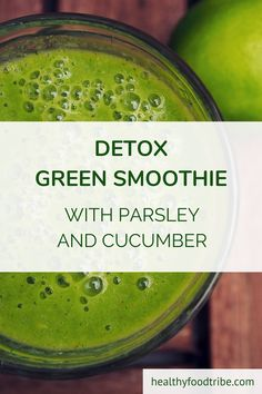 Green smoothie recipes 136937644905396042 - This parsley and cucumber detox green smoothie with extra ginger and lemon is a powerful and effective way to detox and feel recharged and revitalized. Source by bringingupboys Cucumber Detox Water, Cucumber Smoothie, Green Detox Smoothie, Tea Smoothies, Raspberry Smoothie, Smoothie Cleanse, Breakfast Smoothies, Juice Cleanse, Easy Green Smoothie Recipes