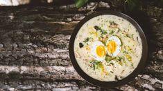 Kulajda shoubami avejcem - Proženy Eggs, Breakfast, Ethnic Recipes, Food, Morning Coffee, Essen, Egg, Meals, Yemek