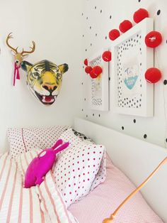 Polka dot and stripes Kids Rooms, Kids Bedroom, Bedroom Ideas, Baby Lux, Nursery Inspiration, Nursery Design, Kid Spaces, Beautiful Space, Kiwi