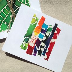 Batik Summer Note Cards Colorful Note Cards Colorful by fishwarp