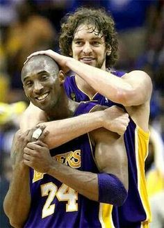 Kobe & Pau  Lakers for life♡