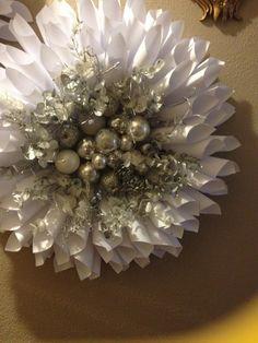 MY DIY Silver Christmas Paper Wreath