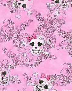 Skull Girls & Swirls - Bubblegum/Silver