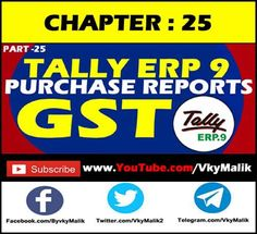 Chapter 25 : How to Check Purchase Report in Tally ERP How to Check Purchase Report Item Wise Teaching, Youtube, Learning, Education, Youtubers, Youtube Movies, Tutorials
