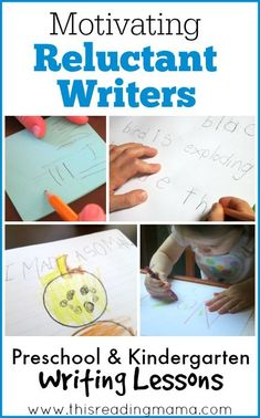 Motivating Reluctant Writers ~ Tips and ideas for motivating young children who are reluctant and maybe even resistant to writing. | This Reading Mama