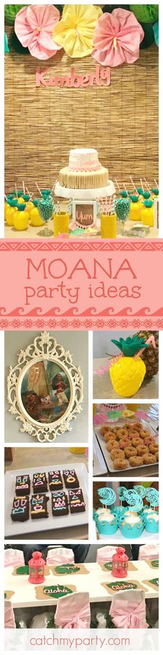 If you're looking for inspiration for a Moana birthday party then look no further... this dessert table is so much fun!! See more party ideas and share yours at http://CatchMyParty.com