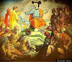 Russian Court Bans Alexander Savko Painting With Mickey Mouses Head On Jesus Body (PHOTOS)