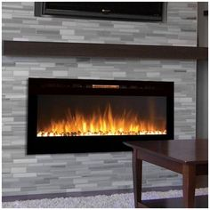 Found it at Wayfair - Sydney Pebble Wall Mount Electric Fireplace