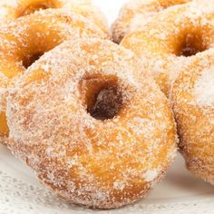 There is nothing like the wonderful aroma of freshly baked donuts. This is an easy to follow recipe for donuts that everyone will love.. Homemade Donuts With Sugar Coating Recipe from Grandmothers Kitchen.