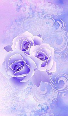 By Artist Unknown. Blue Roses Wallpaper, Butterfly Wallpaper, Wallpaper Backgrounds, Love Rose Flower, Butterfly Flowers, Cute Wallpaper For Phone, Cellphone Wallpaper, Beautiful Flower Arrangements, Beautiful Flowers