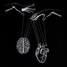 Heart and Brain Drawings. Click the image, for more art by Evelyn Lorenz. Black Aesthetic Wallpaper, Aesthetic Iphone Wallpaper, Aesthetic Wallpapers, Black Phone Wallpaper, Sad Wallpaper, Cool Black Wallpaper, Aesthetic Art, Aesthetic Pictures, Brain Drawing