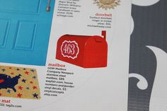HGTV FEATURE  Mailbox numbers with border  Vinyl by VinylConcepts, $3.00