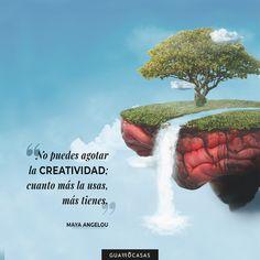 Como bien dice Maya Angelou, ¡la creatividad no se acaba nunca! 🧠 A veces, lo único que hace falta es un poco de inspiración y todo fluye 🔝 Maya Angelou, Mayo, Inspirational Quotes, Creative, Movie Posters, Movies, Creativity, Life Coach Quotes, Films