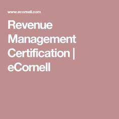 Revenue Management Certification | eCornell