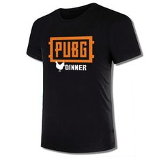 eac55d058 PUBG Logo Fashion T-shirt Playerunknown s Battlegrounds Winner Chicken  Dinner Men s Short Sleeve