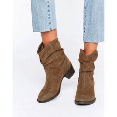 Miss KG Travis Slouchy Ankle Boots (1 845 ZAR) ❤ liked on Polyvore featuring shoes, boots, ankle booties, brown, brown booties, brown bootie, slouchy ankle boots, brown boots and slouch booties