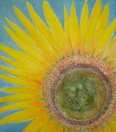 """sunflower"", acrilyc painting, 2010."