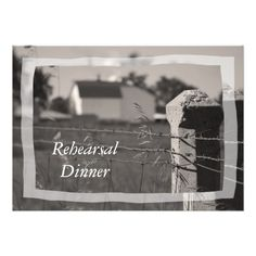 Farm Wedding Rehearsal Dinner Country Farm Wedding Rehearsal Dinner Invitation