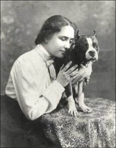 Helen Keller and her Pitbull