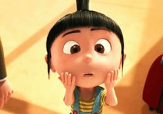 oh my god despicable me gif/I LOVE AGNES :)