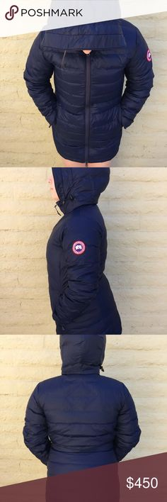 Canada goose camp down jacket Like new condition. I love it but have to let it go because it does fit me. My true size is Xs, and this one is S Canada Goose Jackets & Coats Puffers