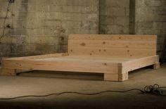 Reclaimed wood platform bed.  #reclaimedwood, #reclaimedwoodbed