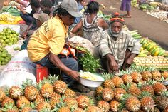 This is a local markets in Papua New Guinea.