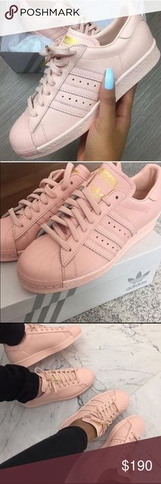 b9a2bc227c8 Adidas Superstars Rose Gold BRAND NEW W TAGS Adidas Shoes Sneakers  Clothing