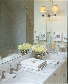 Lovely bathroom design by Cathy Kincaid Interiors