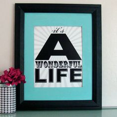 It's a Wonderful Life 8x10 Print by tuckerreece on Etsy. $20.00 USD, via Etsy.