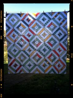 England Street Quilts: Salt Air Summer in the Park Quilt Summer In The Park, Patchwork Tutorial, String Quilts, Missouri Star Quilt, Quilt Tutorials, Quilting Designs, Quilt Blocks, Quilt Patterns, Salt
