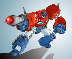 Optimus Prime by ~Clu-art on deviantART