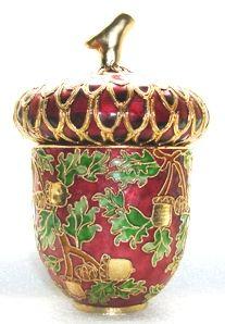 Cloisonne Acorn box <3