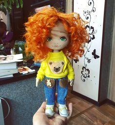 Вот такой лохматый рыжик #кукла #куколка #подарок #ручнаяработа #творчество #куклаизткани #dolls #artdoll #textilldoll #toys #handmade #handmadedolls #cute #куклапофото #кукларучнойработы